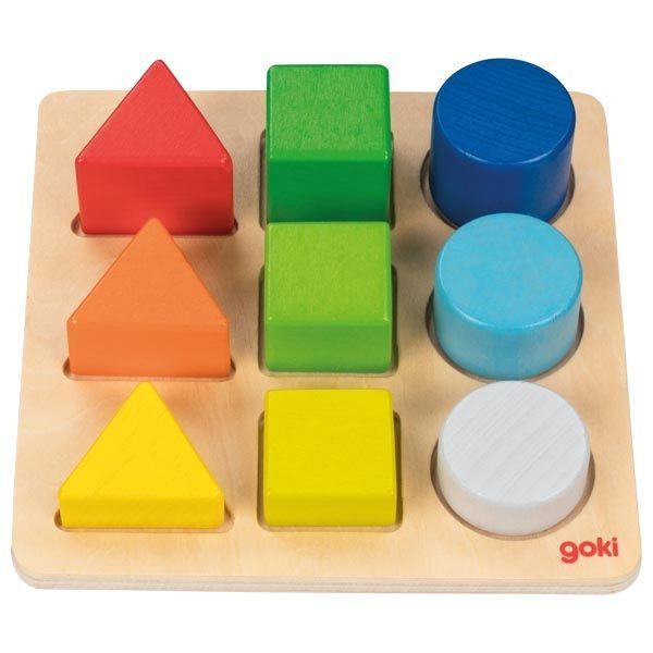 Puzzle assortimento forme e colori Montessori Goki