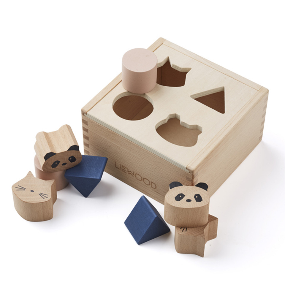 Scatola delle forme Mateo wood box LIEWOOD