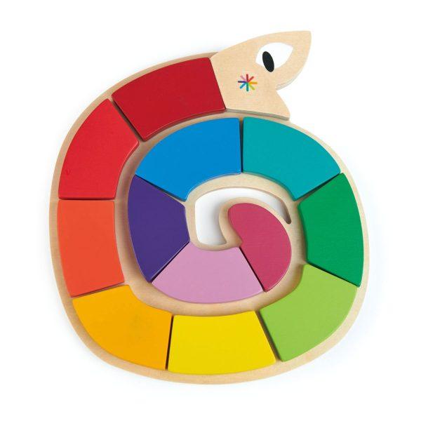 Puzzle didattico forme colori serpente Tender Leaf