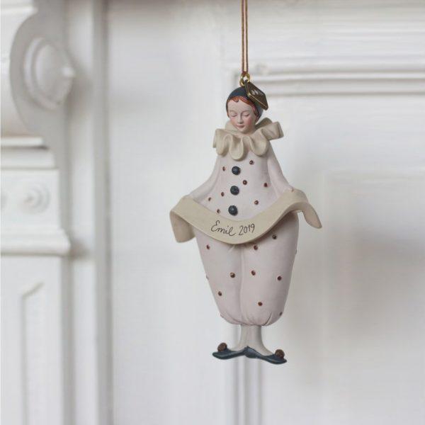 Decorazione Natale Pierrot personalizzabile Konges sløjd