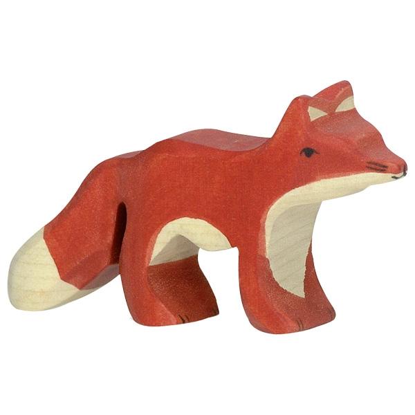 Figura legno volpe piccola - Holztiger