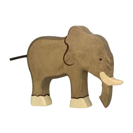 Figura legno Elefante - Holztiger
