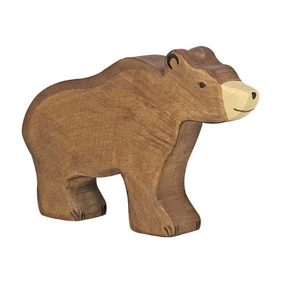 Figura legno grande Orso - Holztiger