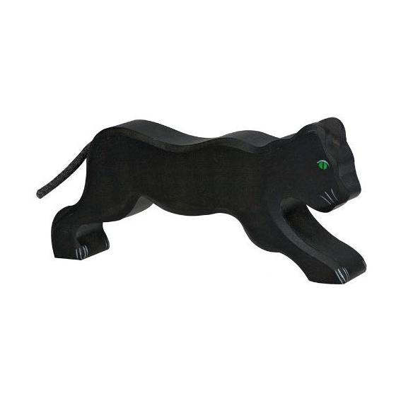 Figura legno Pantera nera - Holztiger