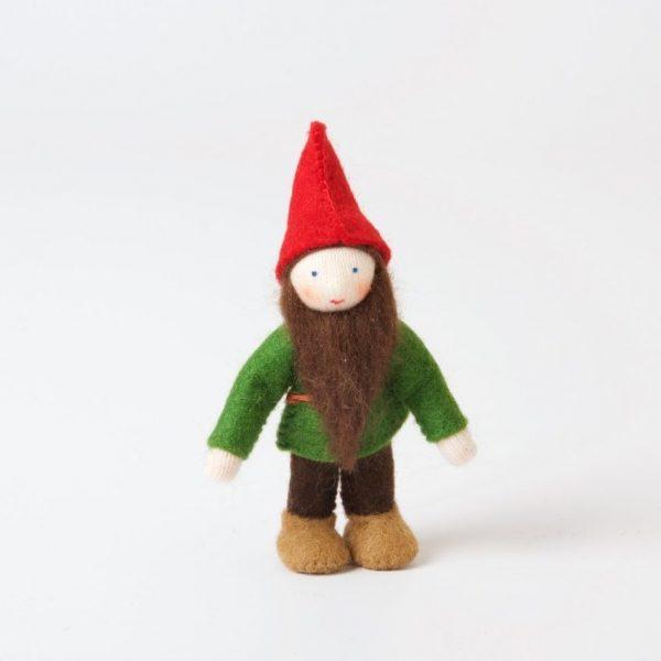 Figura Waldorf Gnomo foresta rosso Ambro-dolls