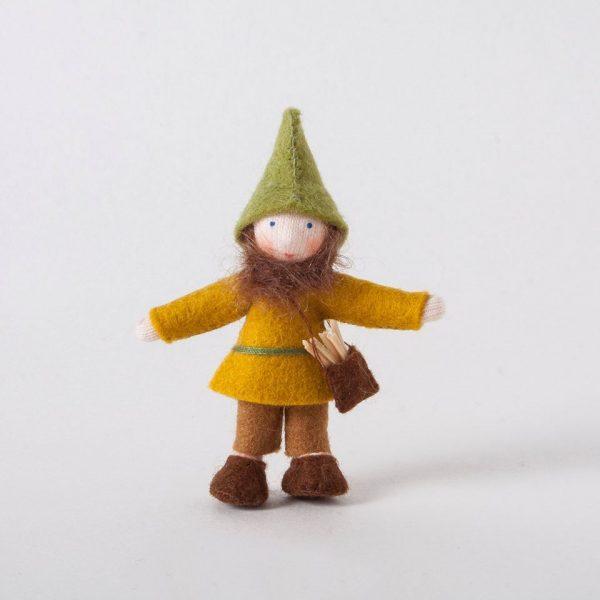 Figura Waldorf Gnomo foresta verde Ambro-dolls