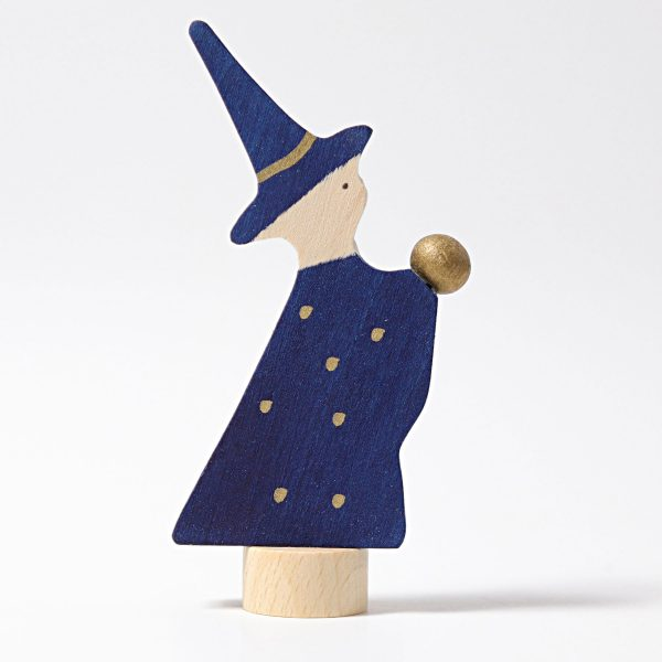 Figura decorativa legno mago Grimm's