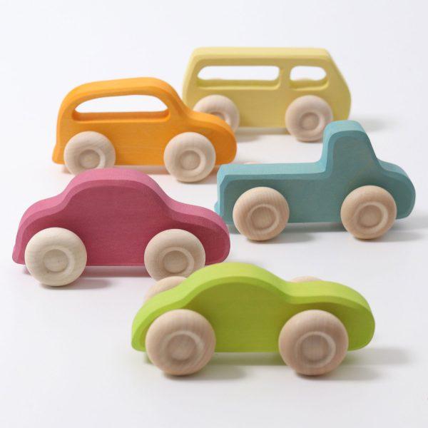 Set 5 macchine di legno - Pastello Grimm's