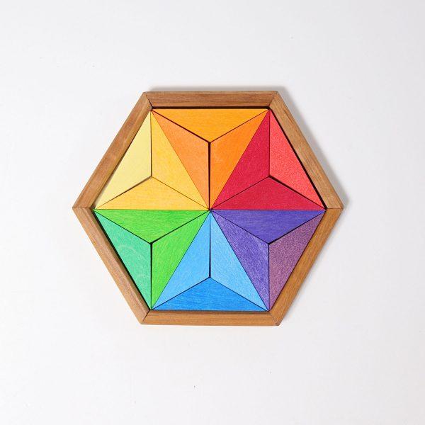Puzzle stella colori complementari piccolo Grimm's