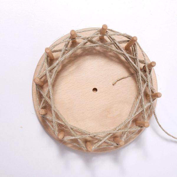 Mini telaio tondo legno Grimm's