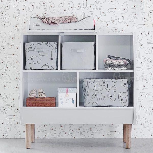 Scaffale bianco libreria a vista Done by Deer
