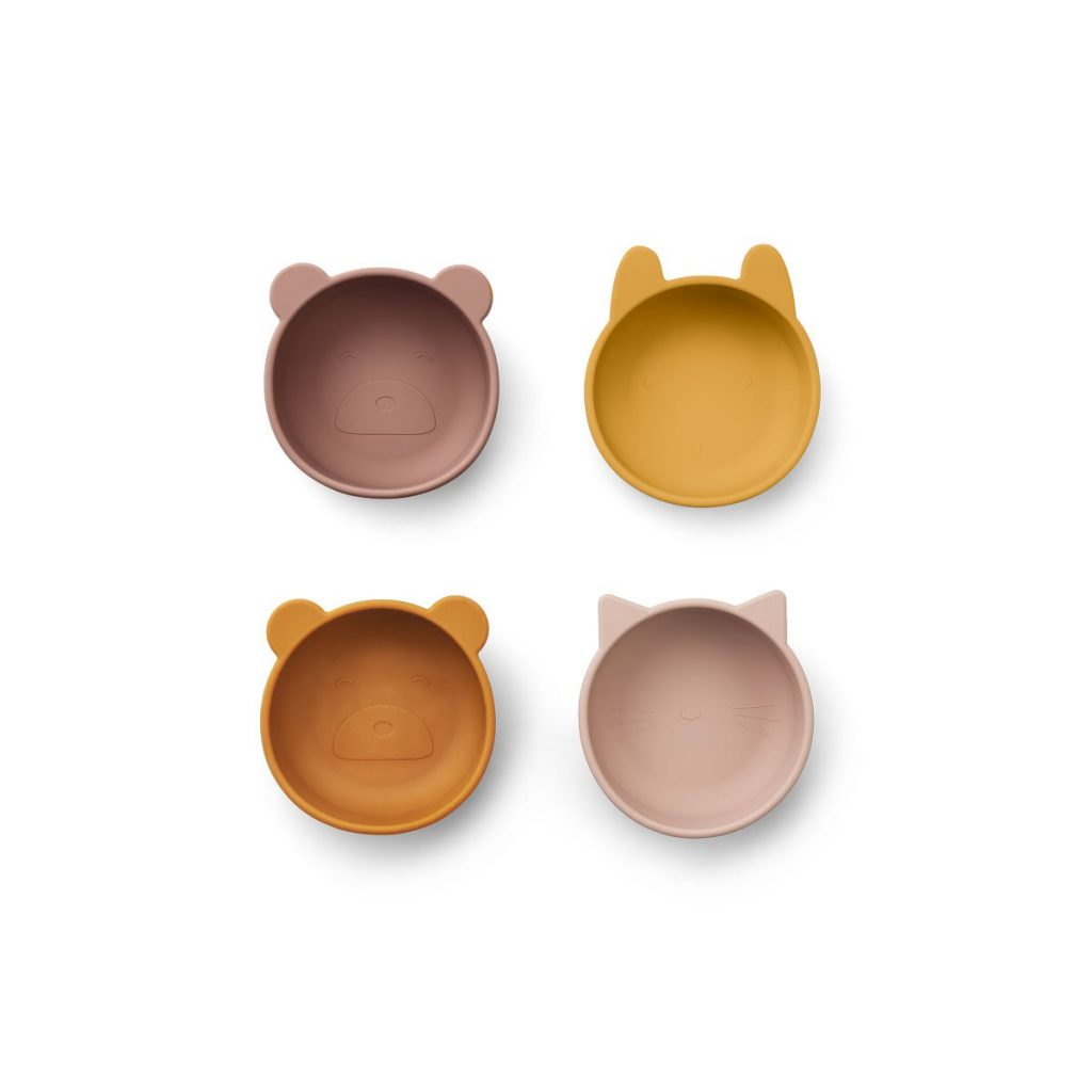 Set 4 ciotole silicone Iggy rose mix LIEWOOD