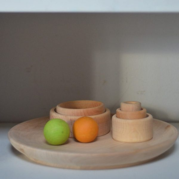 Vassoio rotondo legno faggio naturale 30 cm