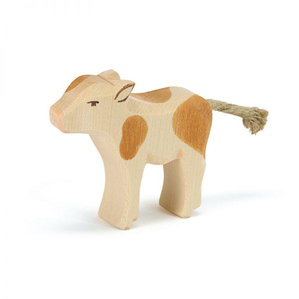 Figura legno vitello pezzato marrone - Ostheimer
