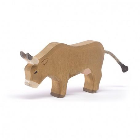Figura legno mucca alpeggio che bruca - Ostheimer