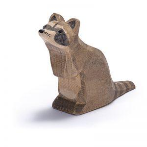 Figura legno Orsetto lavatore seduto - Ostheimer