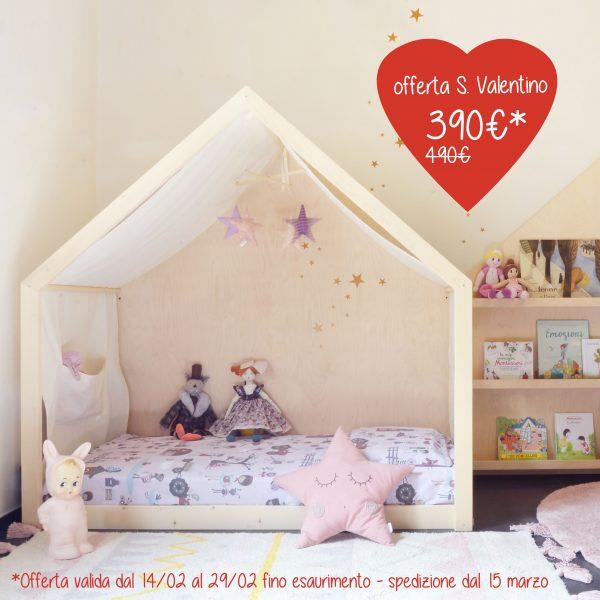 Lettino Montessori Tutti giù per terra Baboo offerta S. Valentino