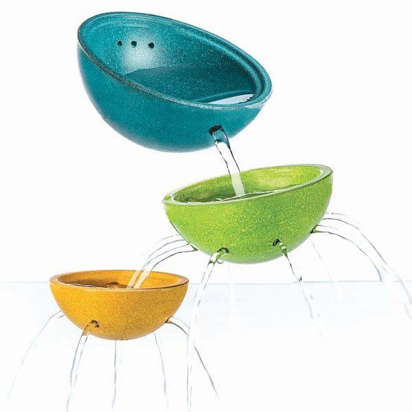 Gioco bagnetto Set ciotole fontana Plan Toys