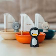 Gioco bagnetto barca a vela - pinguino Plan Toys