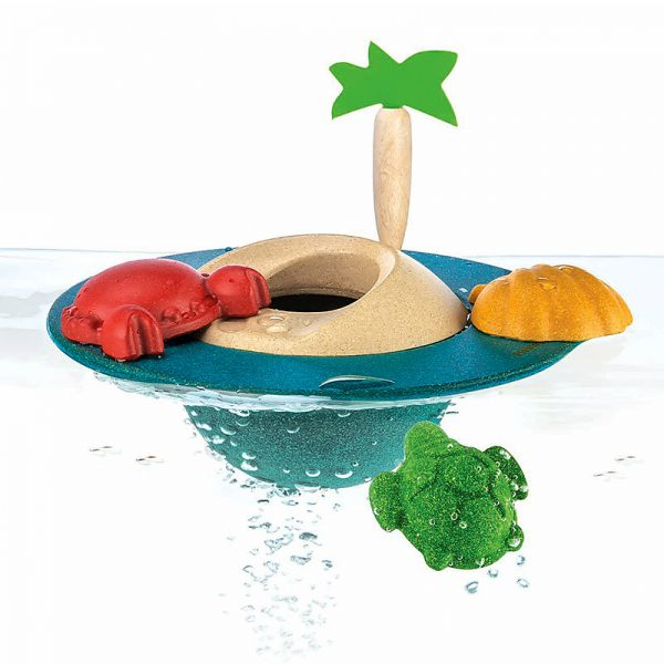 Gioco bagnetto isola galleggiante Plan Toys