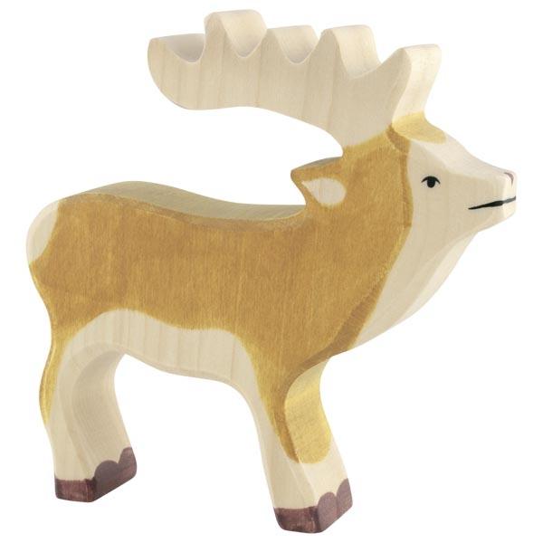 Figura legno papà Cervo - Holztiger