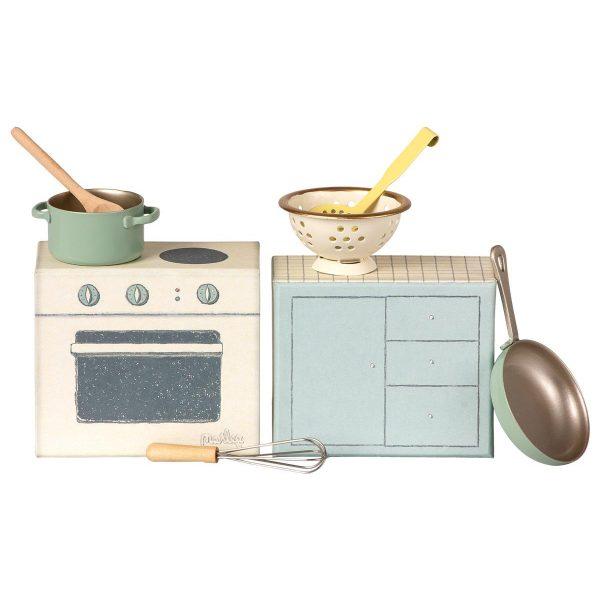 Cooking set - cucina e utensili Maileg