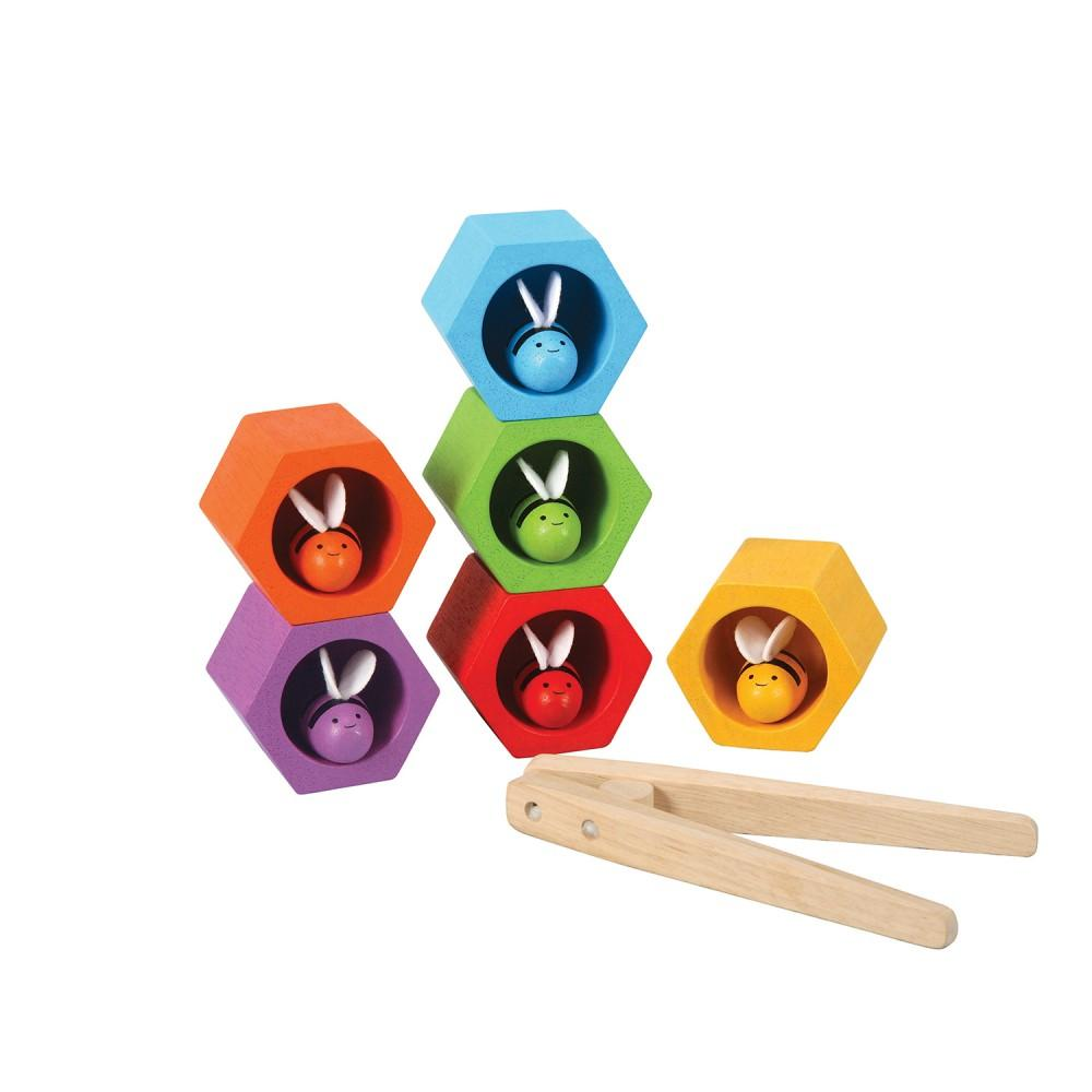 Gioco classificazione colori Beehives Plan Toys