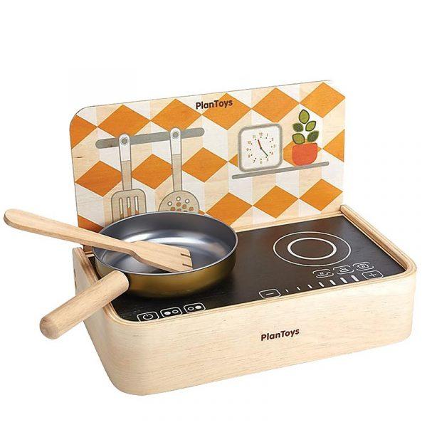 Gioco cucina portatile con padella Plan Toys
