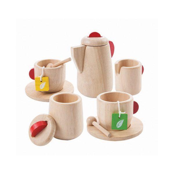 Gioco legno set servizio del the Plan Toys