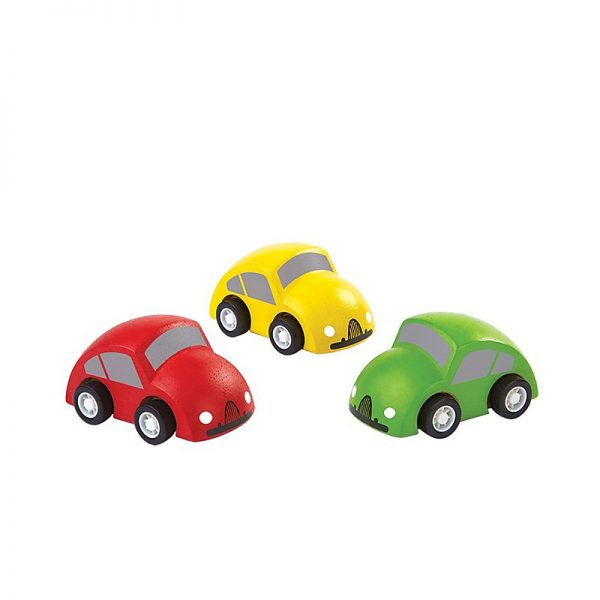Gioco set tre macchinine in legno Plan Toys
