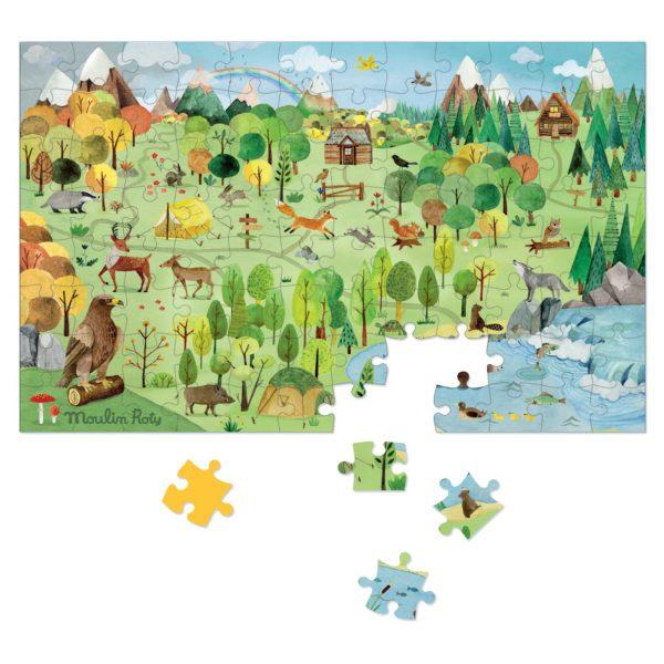 Puzzle La foresta Le Jardin Moulin Roty