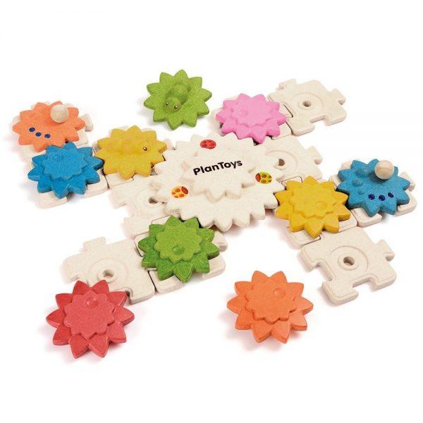 Puzzle ingranaggi colorati - 24 pezzi Plan Toys