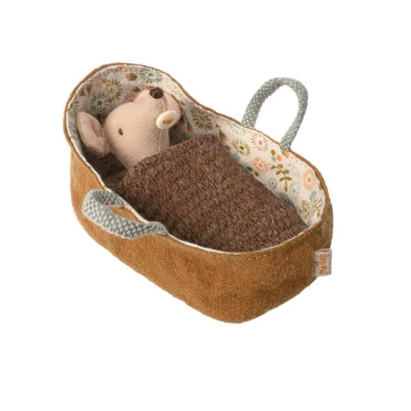 Topino baby Mouse in carrycot Maileg