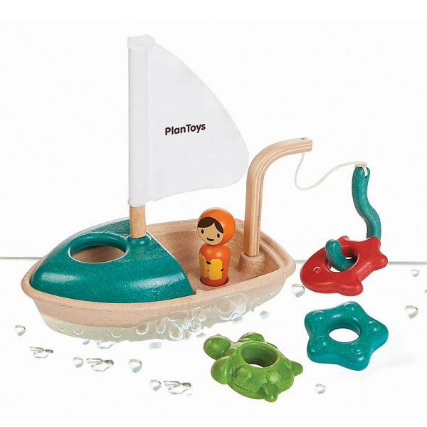 Gioco bagnetto barca galleggiante Plan Toys