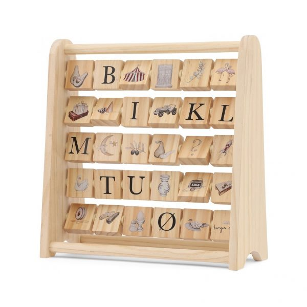 ABC wooden block frame - Konges sløjd