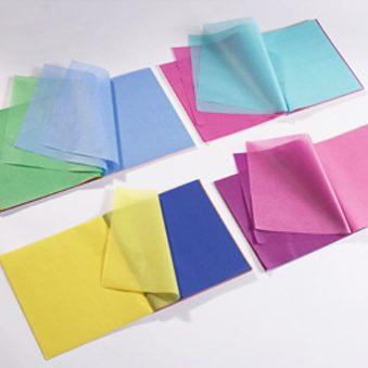 Carta velina 20 colori assortiti 240 fogli 16×16 cm