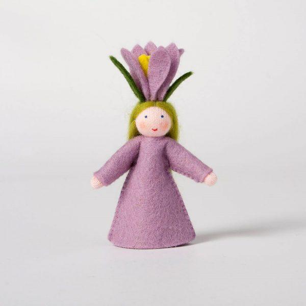Figura Waldorf Fata Crocus Ambro-dolls
