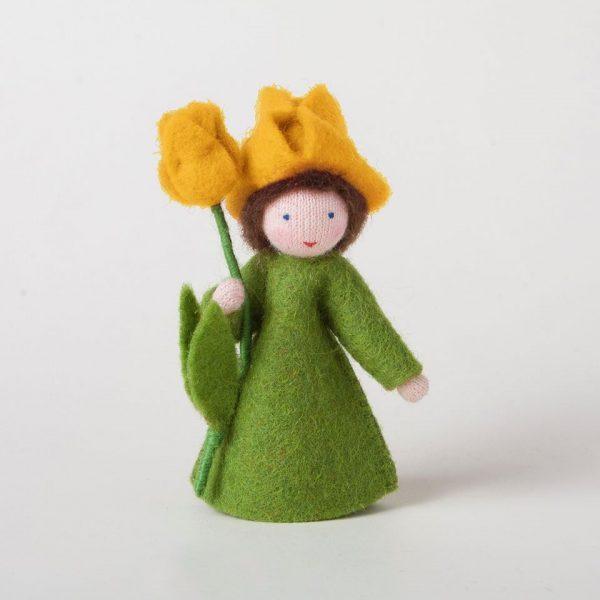 Figura Waldorf Fata Yellow Tulip Ambro-dolls