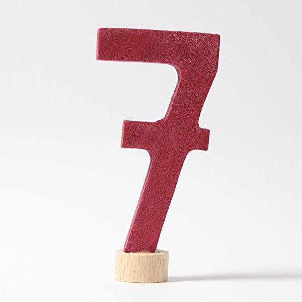 Figura decorativa legno numero 7 - Grimm's