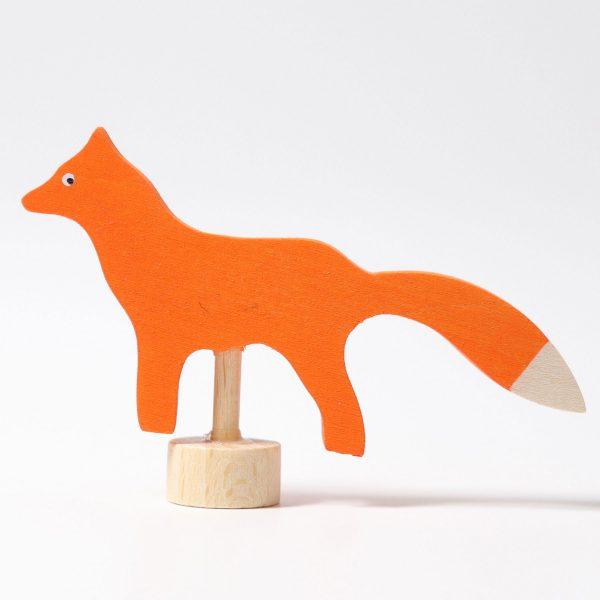 Figura decorativa legno volpe Grimm's