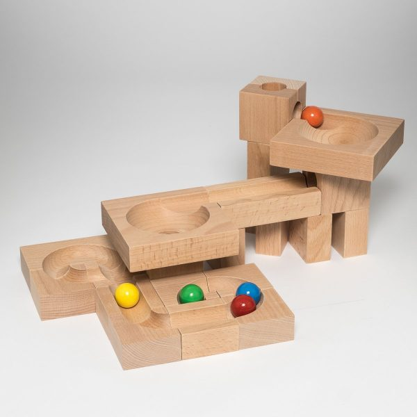 Pista biglie in legno Imbuto 03 Kaden