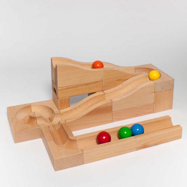Pista biglie in legno Onde 02 Kaden