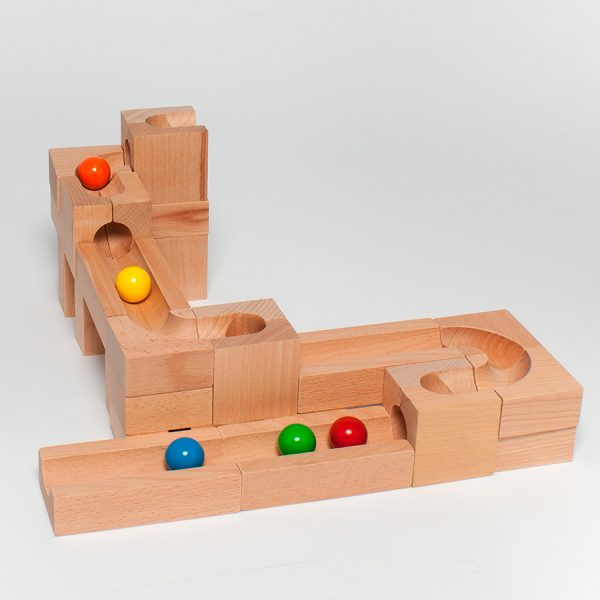 Pista biglie in legno Calssica 01 Kaden