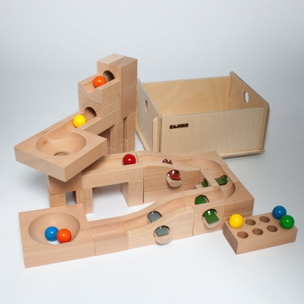 Pista biglie in legno Set Accordo Plus Kaden