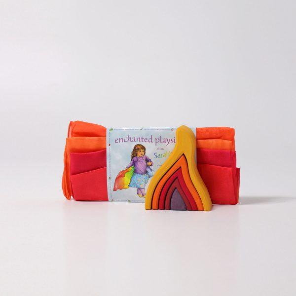 Playsilks Telo in seta Fuoco 86 x 86 cm Sarah's Silks