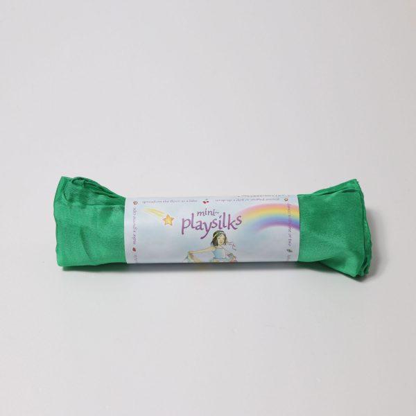 Playsilks mini Telo in seta Smeraldo 52 x 52 cm Sarah's Silks