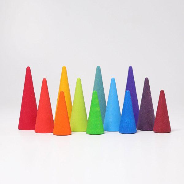 Set coni foresta colori primari Grimm's