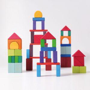 Set costruzioni Arcobaleno Geo-Blocks 60 pezzi Grimm's