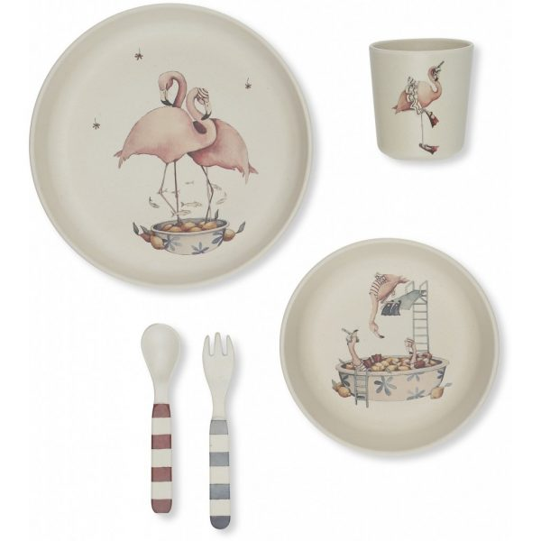Set pappa bamboo FLAMINGO Konges sløjd