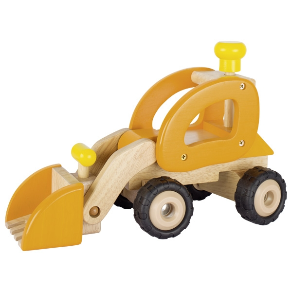 Automezzo ruspa giallo in legno Goki